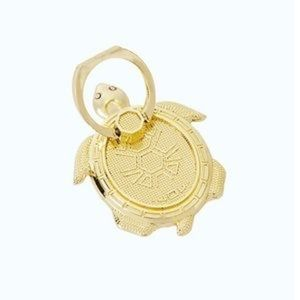 Lilly Pulitzer Gold Metallic Turtle Phone Ring